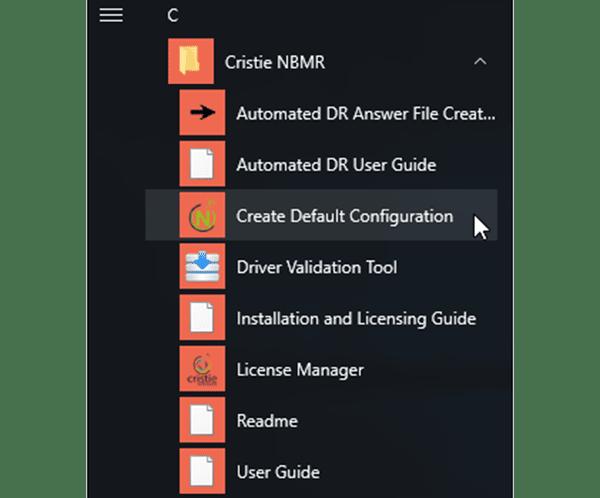Launch default configuration screenshot