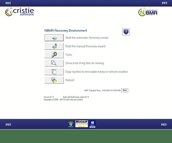 NBMR main menu